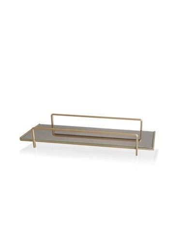 The Mia Kozmetik Standı Gold - 6x37x13 Cm Altın